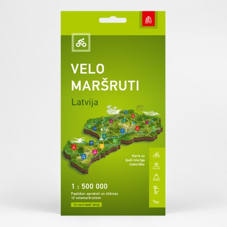 Cycling Map Latvia